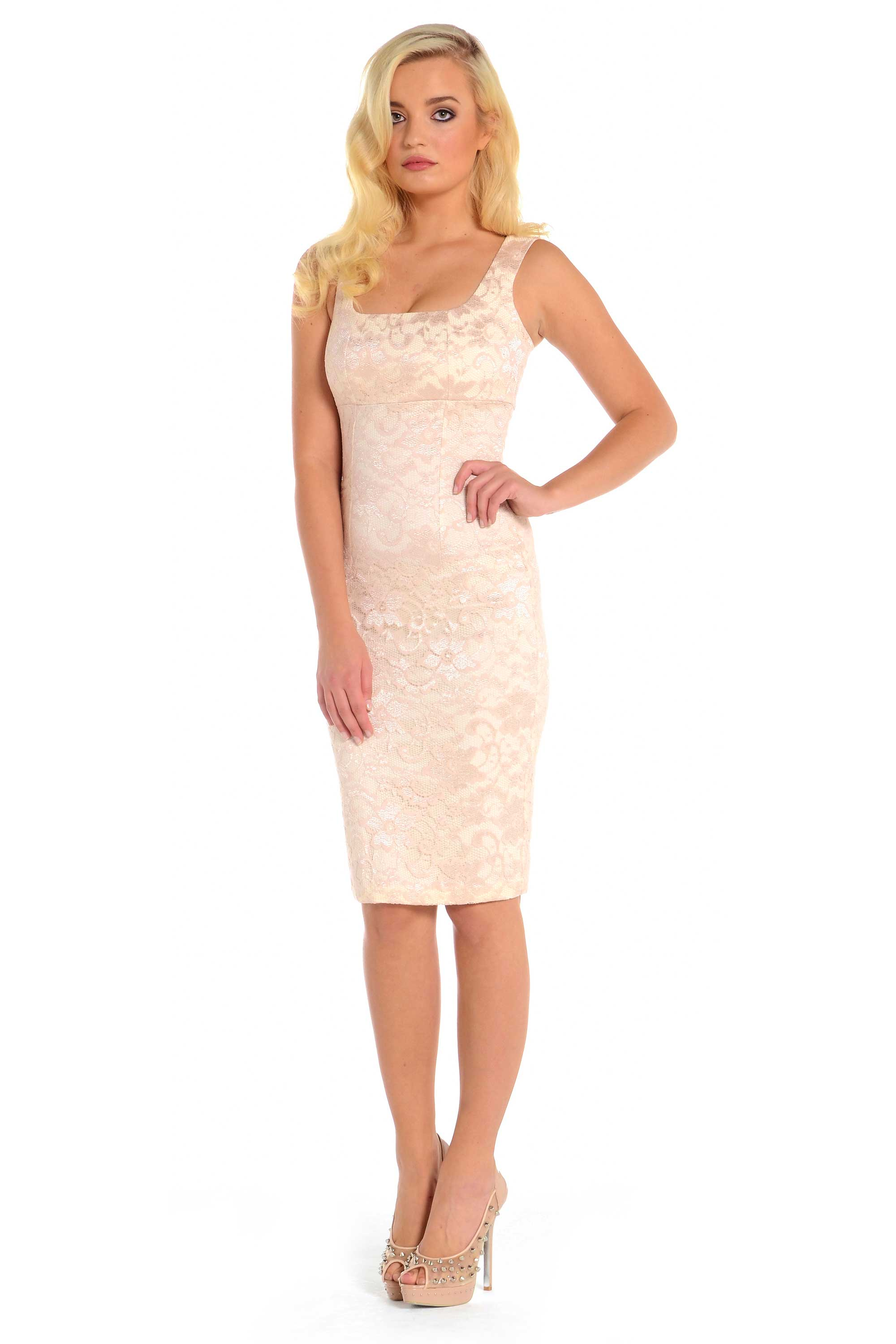 Nude Lace Dress Chi Chi London Premium Lace Dress With